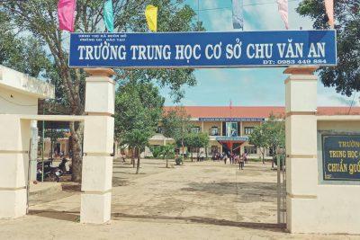 Hình trường THCS Chu Văn An